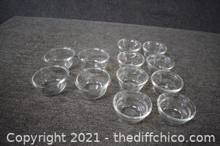 12 Glass Desert Bowls