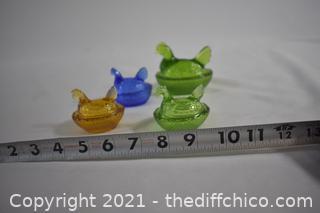 4 Miniature Hen Boxes