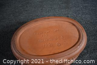 Clay Rooster Dish
