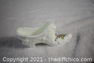 Fenton Collectible Signed Glass Shoe