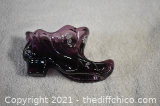 Fenton Collectible Glass Shoe