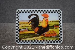 Rooster Glass Cutting Board