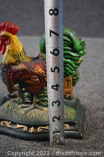 Cast Iron Chicken Napkin Holder
