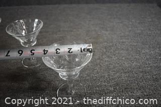 4 Cocktail Glasses