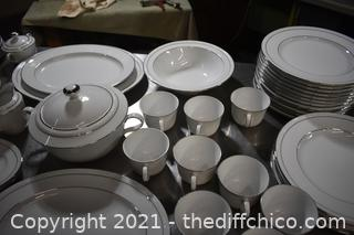 108 Pieces of Noritake White Scapes China