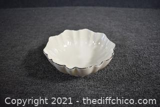 Lenox Ivory Bowl with Gold Trim
