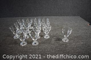 15 Candlewick Liqueur Glasses
