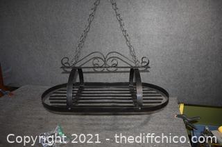 Wrought Iron Glass / Pot Hanger