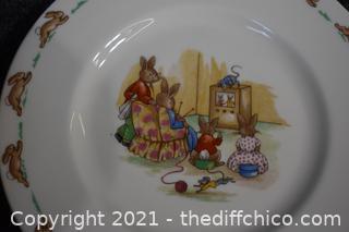 Bunnykins Bowl and Plate