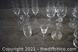 Mixed Lot of Glasses