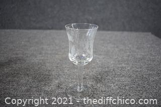 5 Liqueur Etched Glasses
