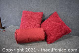 3 Red Pillows