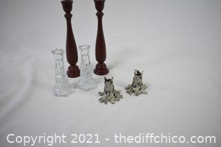 3 Pair of Candle Holders
