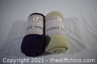 2 NIB Fleece Throws