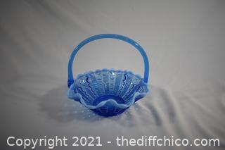 Blue Glass Basket