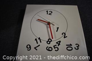 Working Crazy Clock - 11 1/2in x 11 1/2in