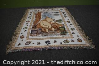 Winnie the Pooh Throw - 33in x 45in