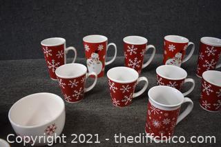 15 Christmas Mugs plus more