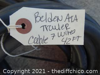 43 Ft Belden ATA Trailer Cable  7 wires