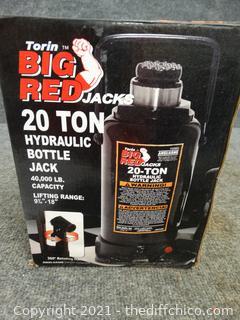Big Red 20 Ton  Hydraulic Bottle Jack