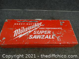 Milwaukee High Performance Super Sawzall Wks
