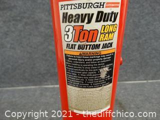 Pittsburgh 3 Ton Heavy Duty  Long Arm jack