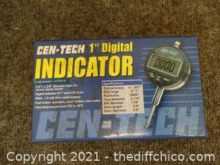 "Cen-Tech 1"" Digital Indicator"