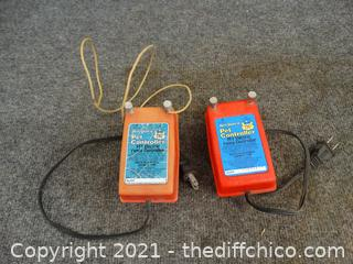 2 Pet Fence Controllers