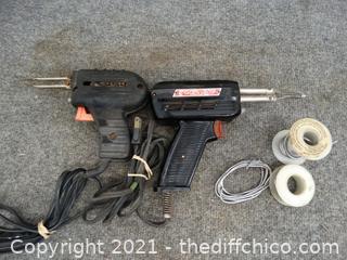 2 Soldering Guns And Solder