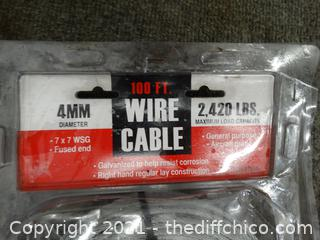 New 100 FT Wire Cable