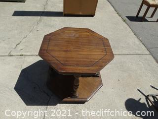 """Octagon Table 21 1/2"""" x 27"""" x 27"""""""