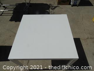 """White Table  39"""" x29 1/2"""" x 29 1/2"""""""