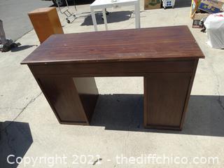 """Wood Desk 30"""" x 35 1/2"""" x 48"""" x20"""""""