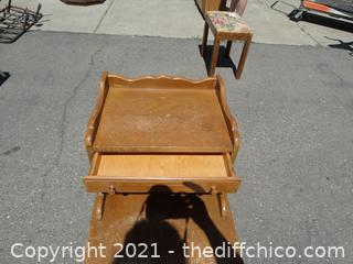 """Wood End Table 28 1/2"""" x 18"""" x 28"""""""
