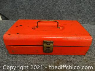 Tools In Red Metal Case