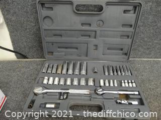 Tool Set In Gray Case
