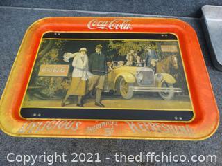 """Vintage Coca Cola Tray 17 1/4 x 12 1/2"""""""
