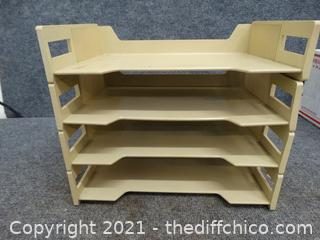 Plastic Shelf For Desk