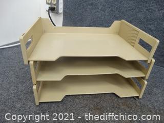 Plastic File Shelf
