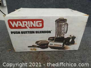 Waring Push Button Blender NEW Never Opened