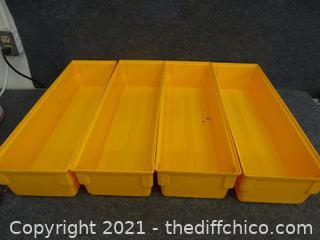 4 Plastic Organizers
