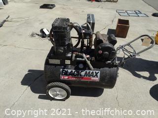 Working Black Max 3HP Air Compressor