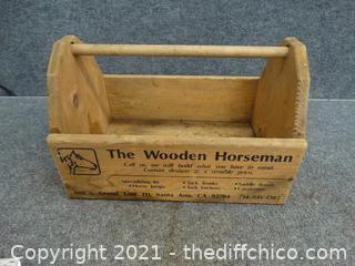 The Wooden Horseman Wood Tool Caddy