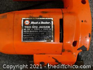 Black & Decker 2 Speed Jig Saw wks