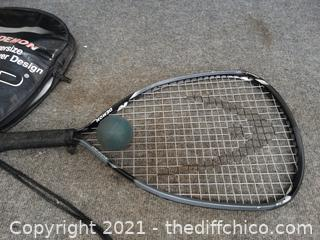 Demon Over Sized Racquet Ball Racquet and Ball