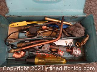 Light Blue Tool Box With Contents