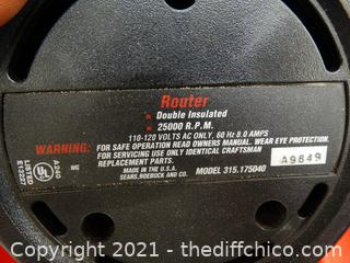 Craftsman Double Insulated Router wks