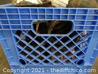 Blue Crate Of Plumbing