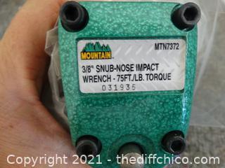 "3/8"" Snub Nose Impact Wrench 75ft lb Torque"