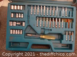 Tool Set in Blue Case
